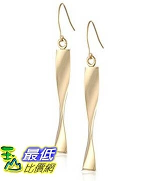 [美國直購] 14k Yellow Gold Polished Twist Drop Earrings 耳環