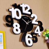 立體數字創意掛鐘客廳現代個性掛錶木質臥室靜音簡約時尚鐘錶時鐘jy【開店一週年下殺89折】