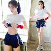 韓國夏季健身服新款網紅瑜珈服女健身房寬松跑步運動套裝速干  麥吉良品