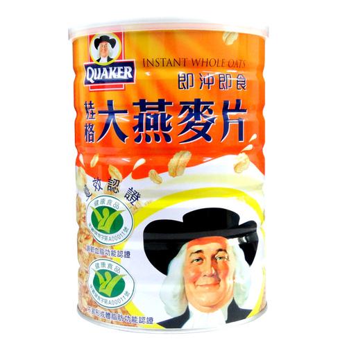 桂格即沖即食雙效認證大燕麥片700g(12入)/箱【康鄰超市】