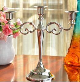 設計師美術精品館蠟燭台歐式擺件復古家居香氛浪漫禮品燭光晚餐婚慶道具蠟燭杯燭台【三頭】