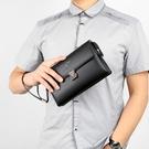 商務大容量手拿包手包 韓版休閒手拿包男生包包 復古信封包男士手機包 簡約時尚潮流夾包手抓包