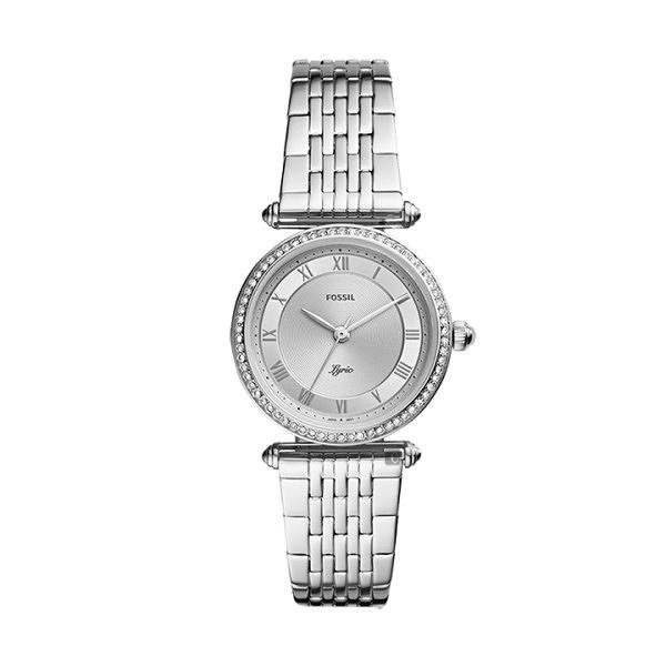 【Fossil】Lyric詩意流韻晶鑽時尚鋼帶腕錶-晶鑽銀/ES4712/台灣總代理公司貨享兩年保固