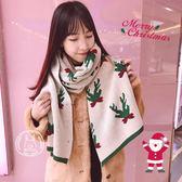 日系秋冬季保暖加厚百搭情侶男女聖誕節禮物圍巾【3C玩家】