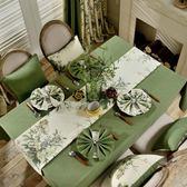 萬聖節狂歡   美式田園餐桌布茶幾桌布布藝棉麻小清新長方形現代簡約桌旗桌墊【居享優品】