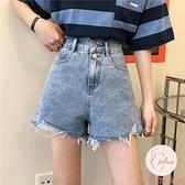 牛仔短褲女夏季新款韓版高腰寬松顯瘦百搭闊腿【大碼百分百】