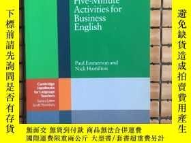 二手書博民逛書店Five-minute罕見Activities For Business English (cambridge H