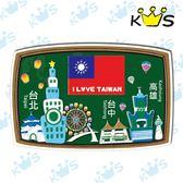 【防水貼紙】黑板-台灣國旗 # 壁貼 防水貼紙 汽機車貼紙 10.5cm x 6.9cm