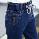 哈倫褲 加絨加厚保暖高腰彈力牛仔褲女加肥大碼哈倫褲小腳褲修身顯瘦長褲 雙十二