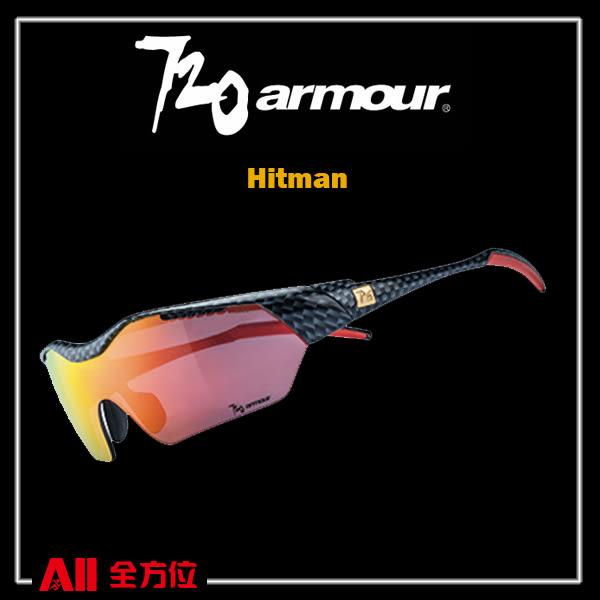 【720Armour】720 Hitman (Asian-Fit) 系列 運動太陽眼鏡  黑銀方格/灰紅(T948B231H) 全方位跑步概念館