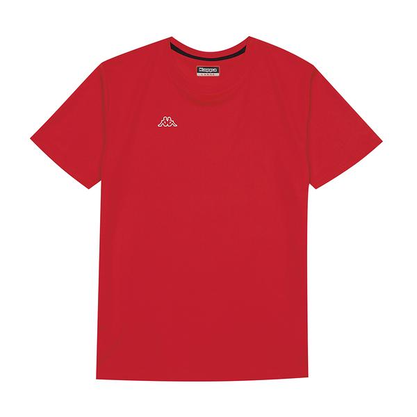 KAPPA義大利 時尚男吸溼排汗圓領衫 紅31199KWD18