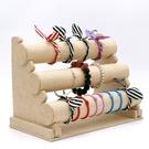 絨布單層三層手鐲架首飾飾品展示架手表手鏈...