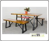 {{ 海中天休閒傢俱廣場 }} F-25 摩登時尚 新品 餐廳系列 PM-009 諾爾5尺集層柚木餐桌椅組(一桌二椅)