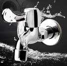 水龍頭 全自動4分單冷一進二出快開加長專用家用全銅洗衣機水龍頭【快速出貨八折搶購】