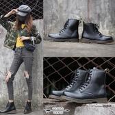 馬丁靴 女 秋季薄款透氣內增高短靴八孔夏天潮酷百搭英倫風靴子 - 古梵希