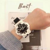 時尚潮男電子錶男多功能夜光防水雙顯跑步計時運動手錶女韓版學生 艾美時尚衣橱