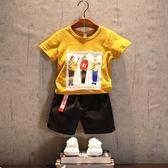 男童套裝 夏裝新款寶中小童韓版運動兩件套 LR1812【VIKI菈菈】