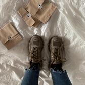 登山鞋  2019春季原宿風百搭街拍韓版ulzzang深咖色運動登山跑鞋女 2色