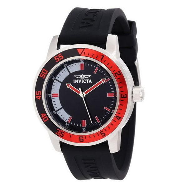 【INVICTA】簡約造型亮色風格錶 - 紅黑