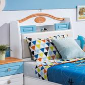喬治藍色3.5尺單人床頭箱(18HY2/A155-01)【DD House】