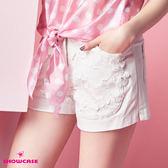 【SHOWCASE】蕾絲花拼接俏麗短褲(白)