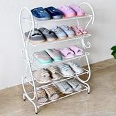 鞋架鞋櫃鐵藝鞋架簡易 經濟型家用省空間歐式組裝防塵宿舍門口小鞋櫃YYJ【凱斯盾】
