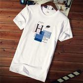 短袖 男士短袖t恤夏季新款圓領衣服韓版潮流純棉大碼半袖白色體恤男裝 宜室家居