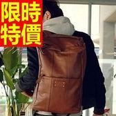 後背包-素雅韓風有型皮革情侶款雙肩包-59ab2[巴黎精品]