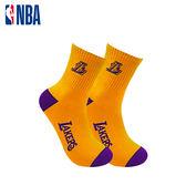 NBA 湖人隊 緹花中筒襪 MIT 運動配件 中筒襪 平底襪