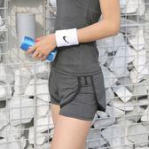 休闲裤 運動短褲女夏季薄款高腰寬鬆速干跑步防走光瑜伽服健身熱褲假兩件 IV1684( 雅居屋 )