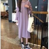 初心 韓系連帽寬鬆洋裝 【D1263】 洋裝 寬鬆 連衣裙 韓