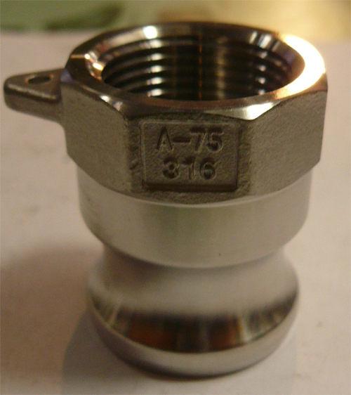 水用快速接頭 A型 1-1/4英吋 PT內牙 材質:白鐵316#  台灣製造