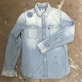 牛仔襯衫 男裝 / Worker Shirt 方形休閒雙口袋 / 破壞水洗 - Levis