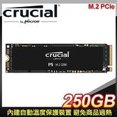 【南紡購物中心】Micron 美光 Crucial P5 250G M.2 PCIe SSD固態硬碟