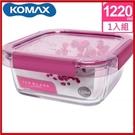 <特價出清>韓國 KOMAX 冰鑽方形強化玻璃保鮮盒 粉 1220ml 59852【AE02271】i-Style居家生活
