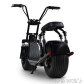 啟牛X哈雷電瓶車成人電動自行車新款雙人大輪胎電動摩托車滑板車 igo 全館免運
