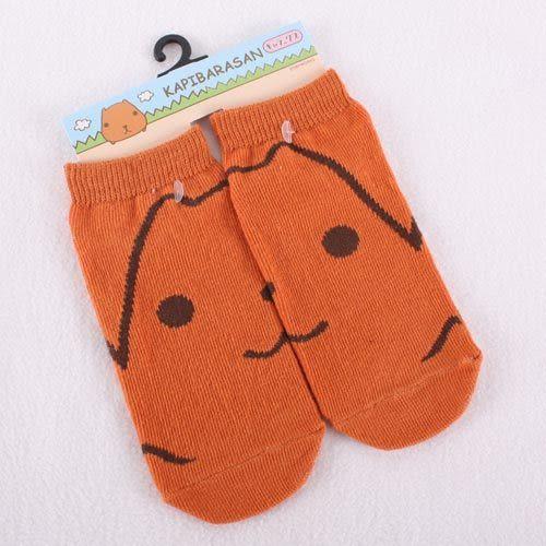 Kapibarasan 水豚君表情系列襪子-棕