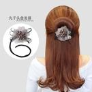 盤髪器 丸子頭盤髮器韓國花朵頭飾百變蓬松花苞頭懶人髮帶女造型器卷髮棒