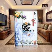 新中式屏風隔斷客廳簡約現代臥室小戶型時尚布藝玄關折疊行動折屏Igo「時尚彩虹屋」