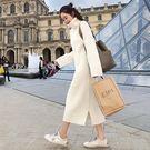 雙十二狂歡購洋裝—新款韓版針織連身裙女寬...