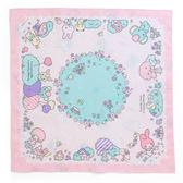 Sanrio 美樂蒂日本製大面積純棉雙面餐巾(繽紛森林)★funbox★_314561