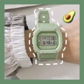 超火電子手錶女風中學生顯白櫻花粉牛油果綠色 潮流衣舍