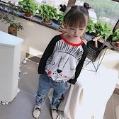 2020童裝春秋新款 男女寶寶圓領套頭T恤 中小童可愛印花舒適上衣  店慶降價