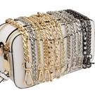 包包鍊條 包包鍊條帶配件帶包鍊子側背帶斜背背包帶斜背單買金屬鍊替換包帶 晶彩