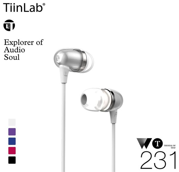【5折專區】 TiinLab Whisper of TFAT WT 耳語系列 - WT231 耳塞式耳機 白