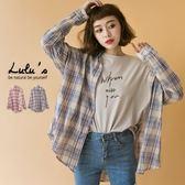 LULUS-D反摺袖釦口袋格紋襯衫-2色  現+預【01032066】