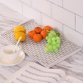 杯子托盤水杯茶杯茶盤長方形家用塑料瀝水托盤廚房客廳水果盤創意 st1517『伊人雅舍』