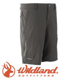 【Wildland 荒野 男款 彈性抗UV帥性短褲《深橄欖》】0A51382/春夏款/短褲/休閒短褲★滿額送