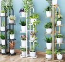 花架 室內外陽臺客廳置物花架落地多層鐵藝綠蘿多肉吊蘭植物花盆栽架子
