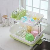 塑料雙層碗架 碗筷碗碟瀝水架碗柜廚房置物架餐具收納架廚房用品-享家生活館 IGO
